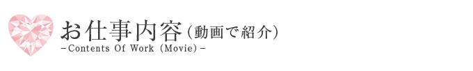 お仕事内容(動画)